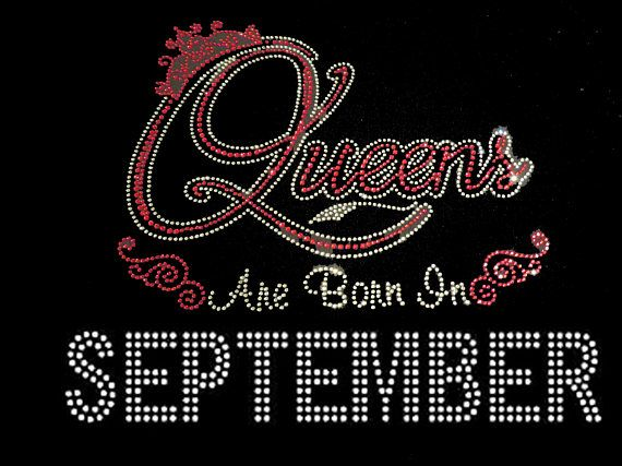 Queens Are Born In September In Red 9 25x9 Rhinestone January