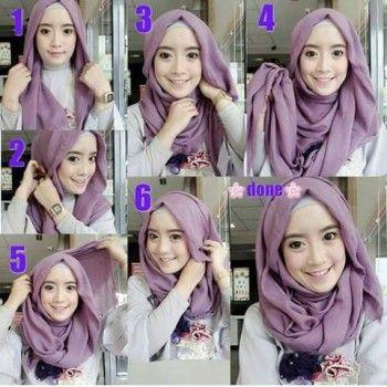 cara memakai hijab: 30 Cara Memakai Jilbab Segi Empat Terbaru