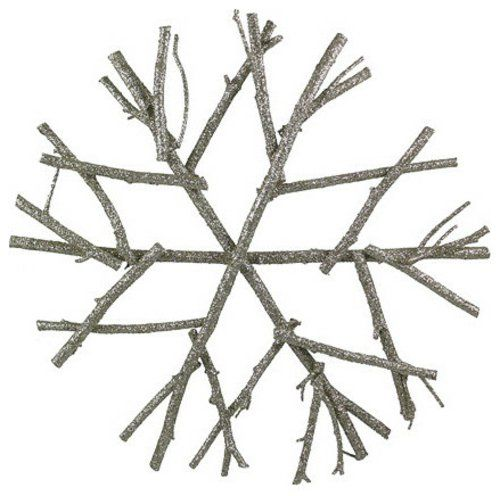 christbaumspitze aus Zweigen mit Glizter