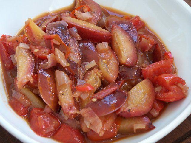 Zwetschgen-Tomaten-Chutney, sehr lecker :)))