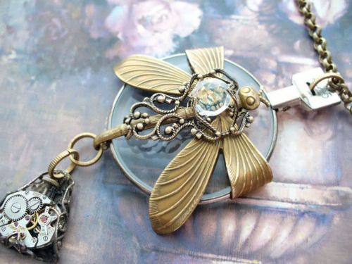 Steam Punk necklace.: Dragonfly Jewelry, Dragonfly Steampunk, Idea, Jewelry Necklaces, Steampunk Style, Steampunk Dragonfly, Jewelry Steampunk, Dragonfly Necklace Very, Dragonflies