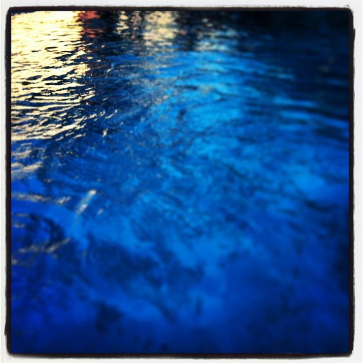 Water, sunset