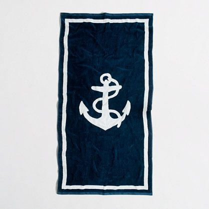 Factory large beach towel in anchor - Accessories & Shoes - FactoryMen's FactoryMen_Shop_By_Category - J.Crew Factory