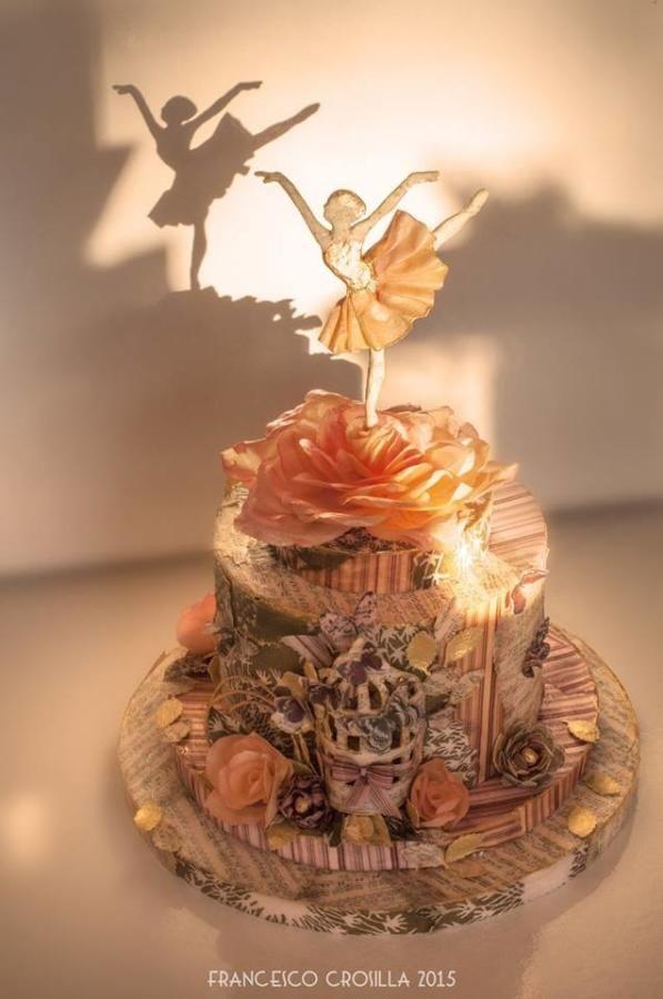 Scrapbooking cake in wafer paper  - Cake by Valentina Graniero
