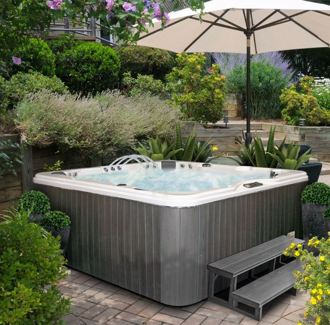 27 best deck update images on pinterest deck deck around trees and outdoor spaces - Wayfair Hot Tub