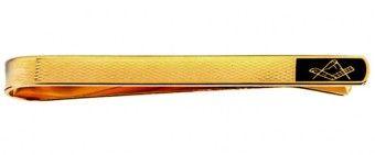 Masonic Black & Barley Design Gold Plated Tie Bar - £19.99