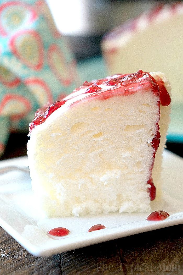 This is how to make Instant Pot angel food cake! Fluffy fat free cake right in your pressure cooker that tastes amazing! You have got to try it for dessert.
