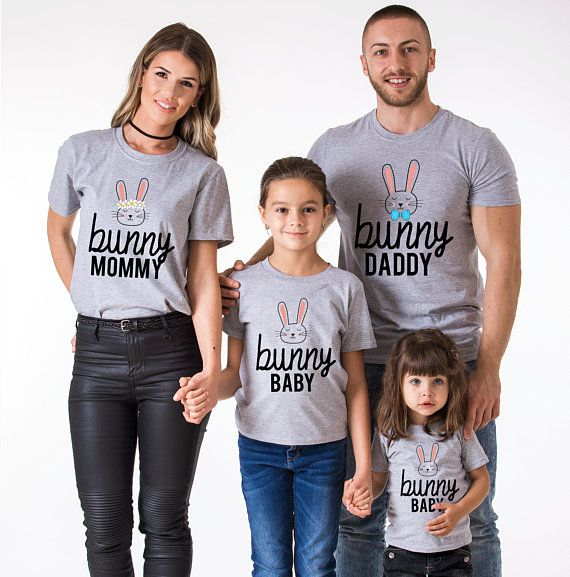 Unique Baby Mommy and Me Easter Bunny Shirts Womens Boy Girl Matching