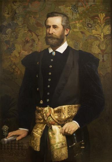 Portret Ludwika Wodzickiego, marszałka Sejmu Krajowego | Siemiradzki, Henryk (1843-1902) | 1880 | Katalog MNK