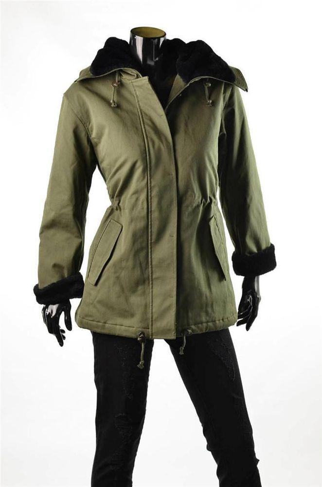 Armani Exchange Coats A/X Women's Coat Faux Fur Lined Hood Jacket Sz S $248 NWT #AXArmaniExchange #Parka  #5Gables