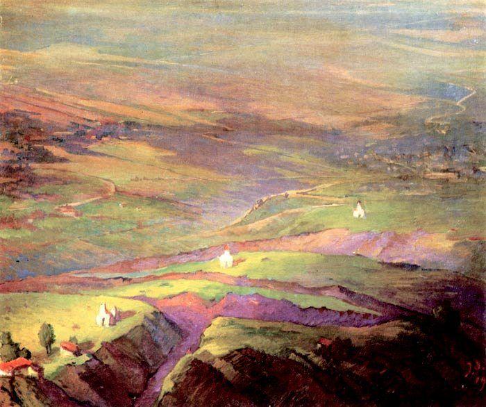 ელენე ახვლედიანი – პეიზაჟები; Elene Akhvlediani – Landscapes   ბურუსი - BURUSI