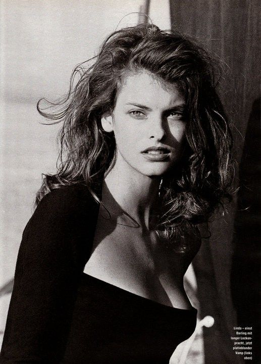 Linda Evangelista by Peter Lindbergh for Marie Claire Germany - 1991