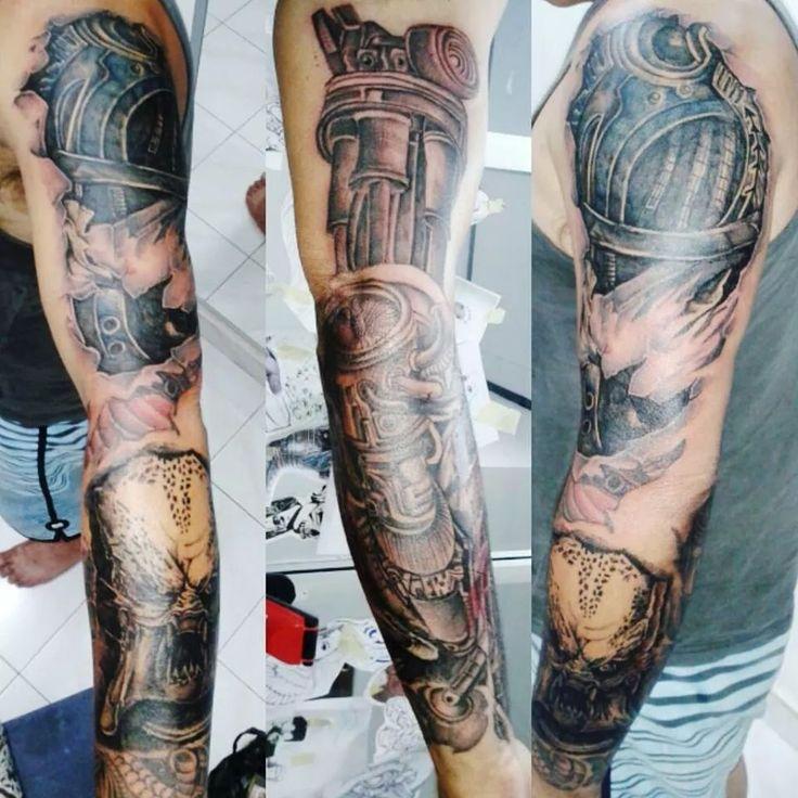 Terminator Vs Predator Blessinkart tattoo parlor