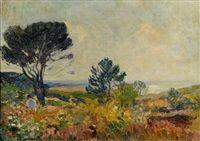 Paysage à Quiberville par Robert Antoine Pinchon