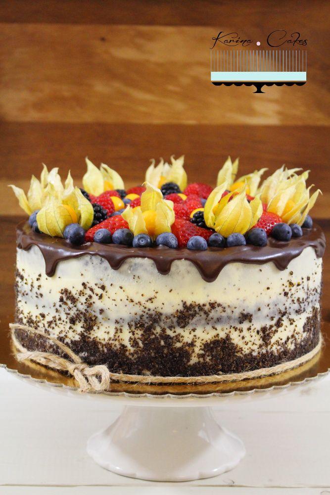 Maková torta s ovocím - Poppy Seed Cake with Fruits