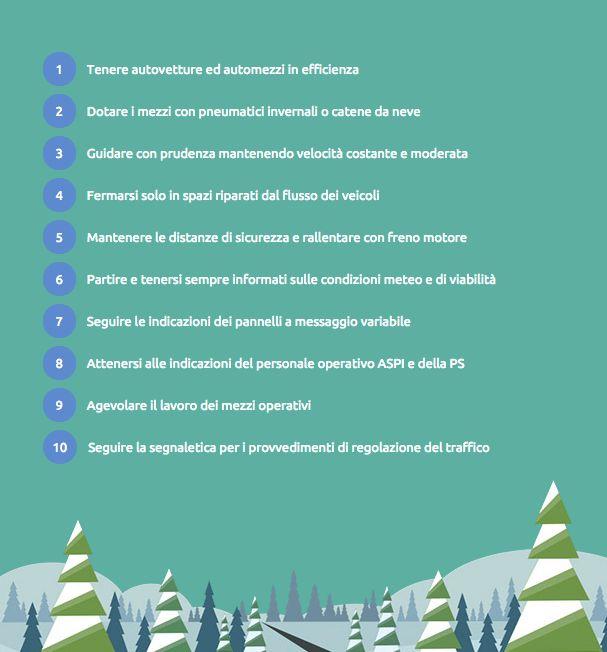 10 consigli in caso di neve #sicurezzastradale #guidasicura #neve