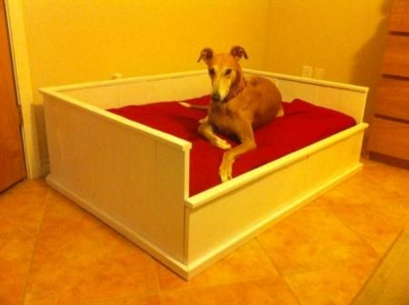 Farmhouse Dog Bed   Do It Yourself Home Projects from Ana White