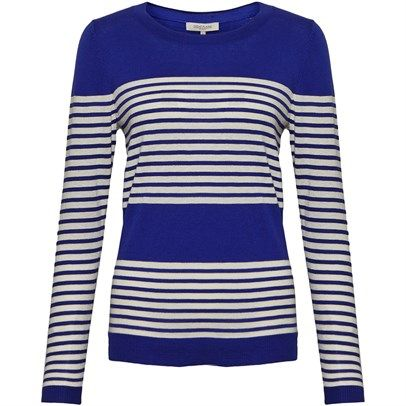 Ozsale - Cotton Long Sleeve Stripe Jumper Sapphire Cream was $69 and is now $25. Just another great basic item by Great Plains.