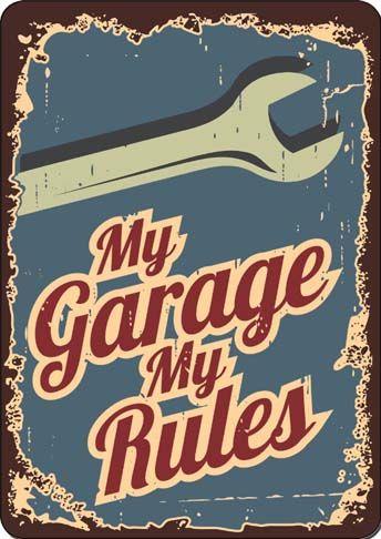 19873IDENTIFICAÇÃO DE LUGARES - My Garage My Rules - envelhecidaS - 29x41-