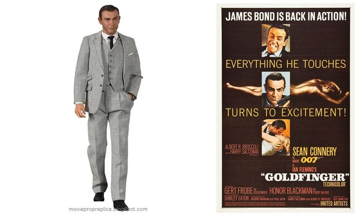Sean Connery as James Bond 007 Goldfinger Movie Collectible Figure
