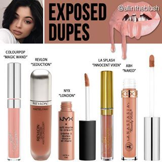 "@kyliecosmetics ""Exposed"" Lipkit Dupes  More details & swatches will be on allintheblush.com"