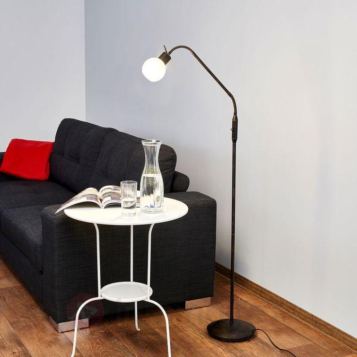 Lampadaire rustique LED Elaina, couleur rouille, référence 9620013 - Lampadaires à moins de 150€ pour décorer sans se ruiner chez Luminaire.fr !