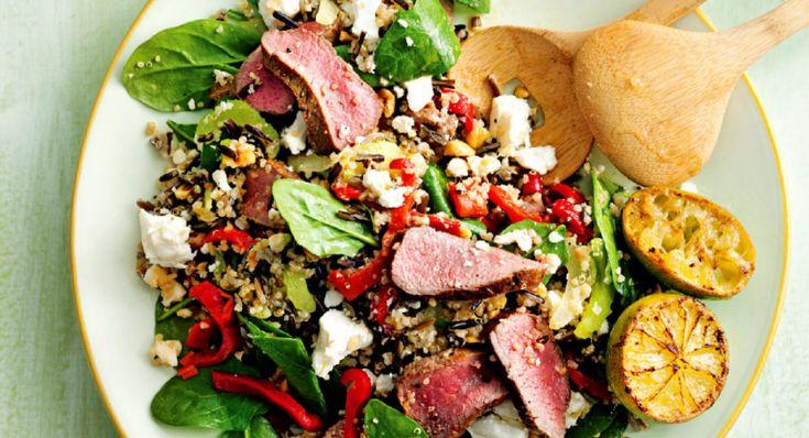 salade van lam, wilde rijst en quinoa - delicious.magazine