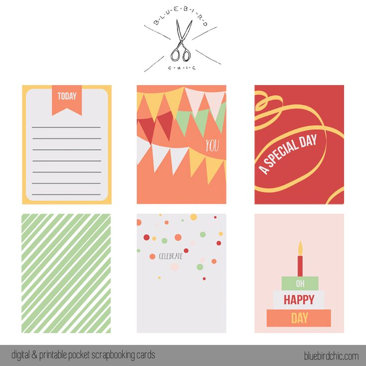 Free Pocket Journal Cards from bluebirdchic