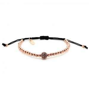 Chevalier Project bracelet Rose Gold CZ Diamonds bead
