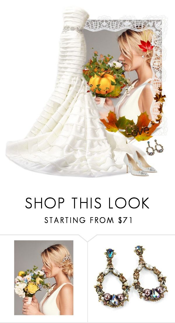 Wedding by fashionrushs on Polyvore featuring Jimmy Choo, Sweet Romance, Wedding Belles New York and Dennis Basso