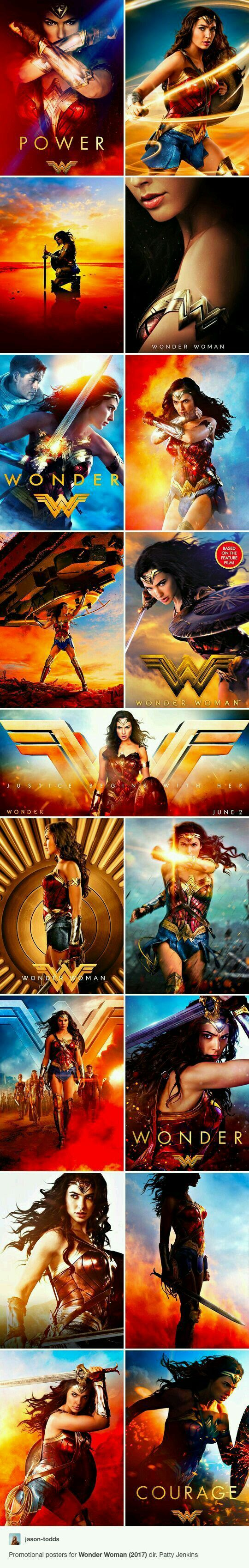 Wonder woman movie posters