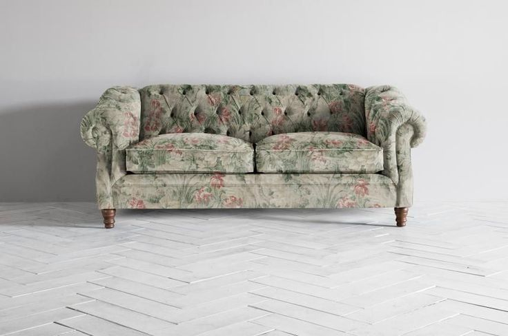 A grand, imposing Chesterfield sofa
