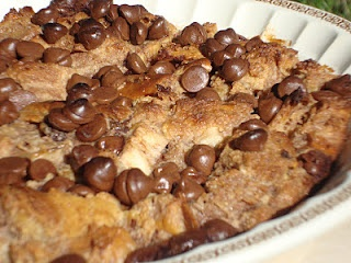Raspberry Chocolate Chip Bread Pudding | Just Chocolate Chip Cookies ...