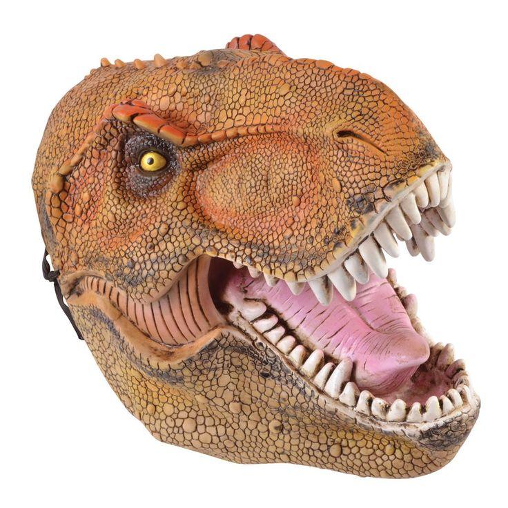 Die Dinosaurier Maske für Erwachsene ist eine tolle Maskerade für diverse Kostümveranstaltungen.Staunend bewundern die Besucher einer Motto-Fete oder sogar Halloween-Party den Träger oder die Trägerin dieser realistisch aussehenden Maske. Sie zeigt den Kopf eines Dinosauriers und wartet mit zahlreichen Details auf. Dies fängt beim geschuppten Look an und hört bei den Zähnen noch lange nicht auf. Damen und Herren tragen diese bräunlich-orangefarbene Dinosaurier Maske für Erwachsene…