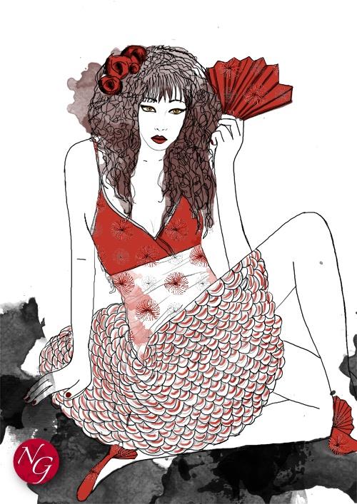 fan'tastic #fashion #illustration    http://www.nefergarden.com/2013/01/11/fantastic/