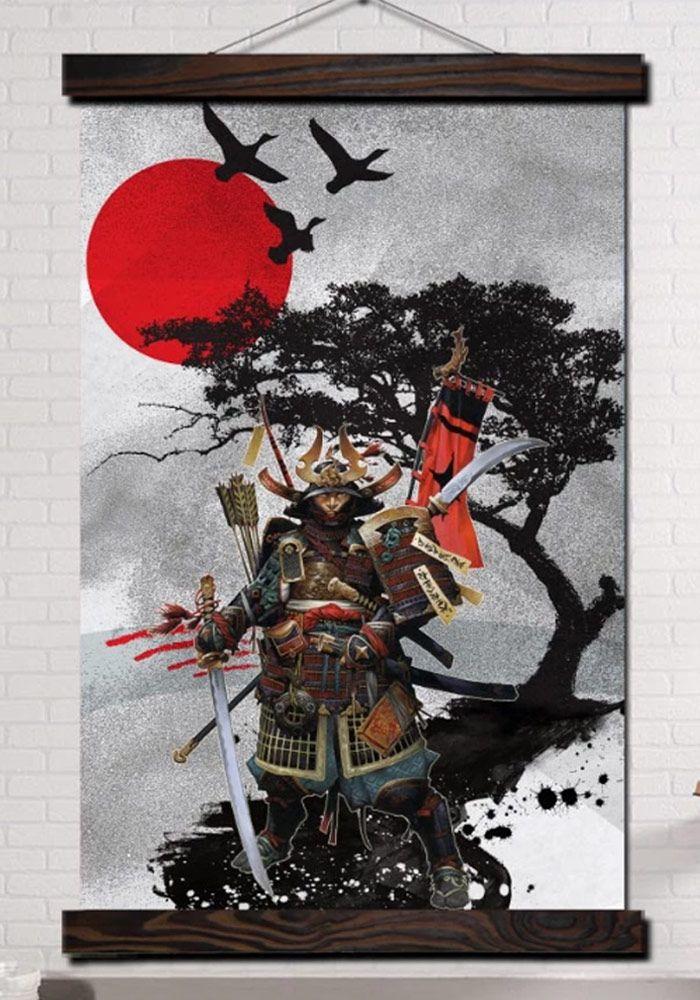 Tableau De Guerre Samourai Samurai Samourais Katana Mempo Combattant Guerrier Ninja Armurs Guerrier Samourai Folklore Japonais Histoire Du Japon
