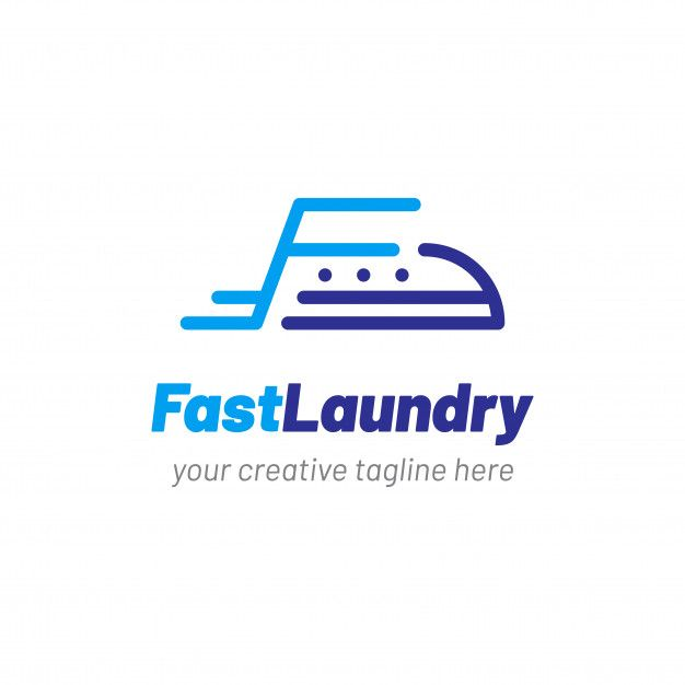 laundry logo with clothes iron icon in 2020 laundry logo logos cleaning logo pinterest