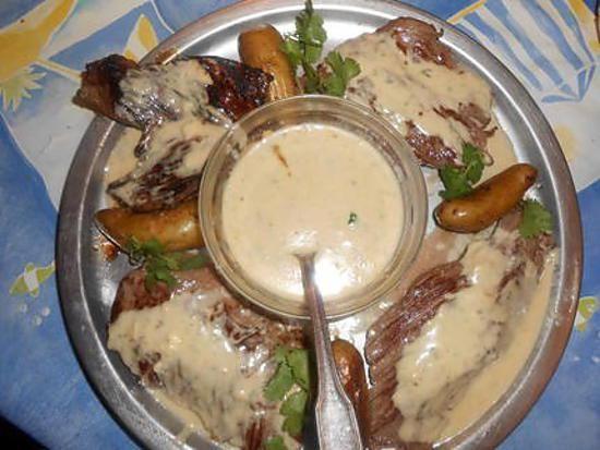 recette Bavette d aloyau sauce au bleu