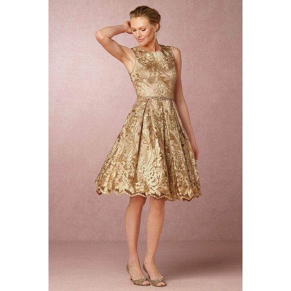 56 best gold mother of the bride dresses images on for Brown dresses for wedding guest