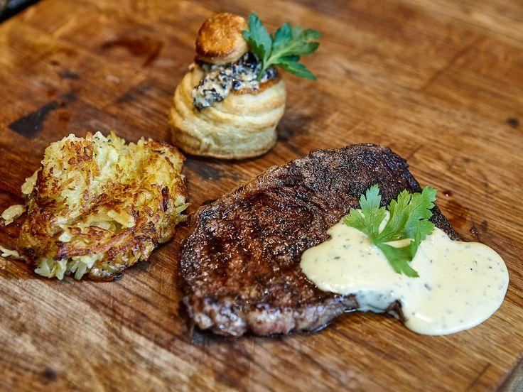 Steak minute med bearnaise och rösti   Recept från Köket.se