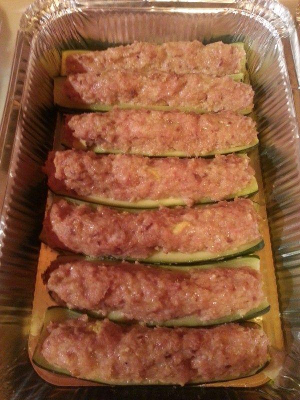 Zucchine ripiene di carne - Chez Sylvie