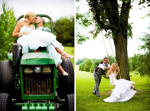 I'll take you for a ride on my big green tractor (: so cute for pics: Farms Wedding, Ranch Wedding, Country Wedding, Trees Swings, Country Couple, Wedding Pictures, Southern Wedding, Future Wedding, Photography Ideas