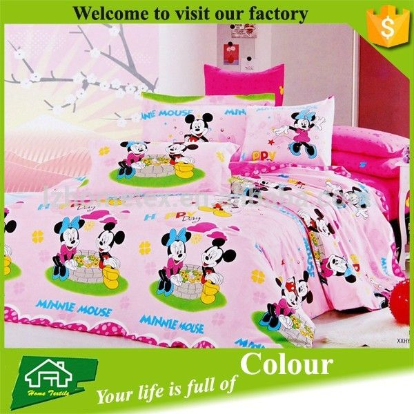Girls bedding Mickey Minnie Mouse bedding set