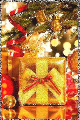 Новогодний подарок - анимация на телефон №1408113