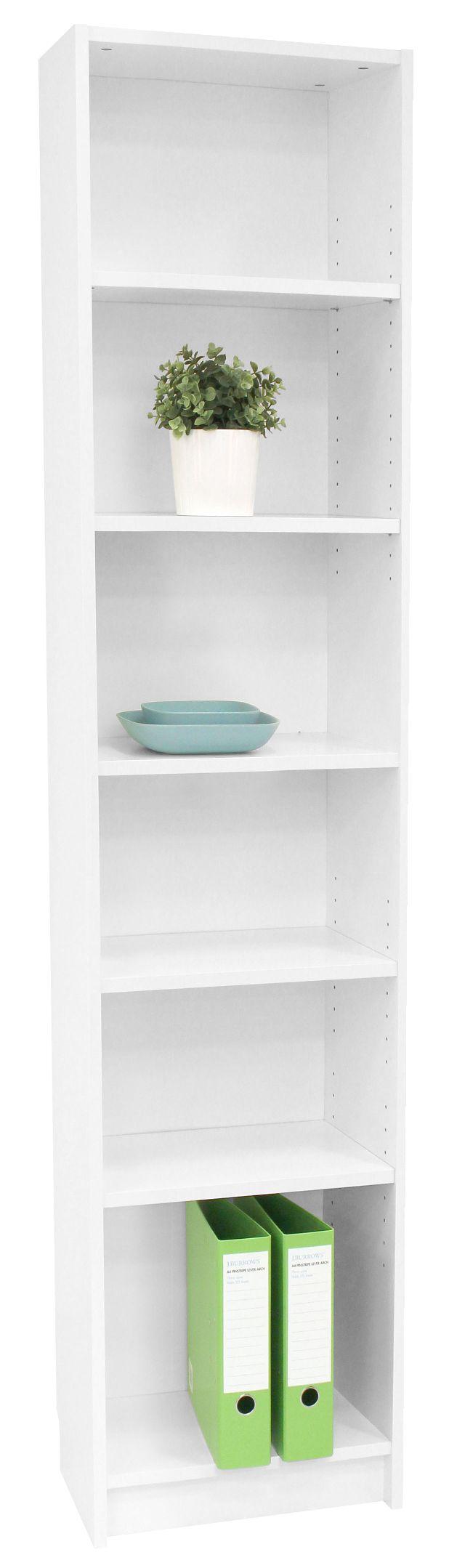 Orson 6 Shelf Slim Book White