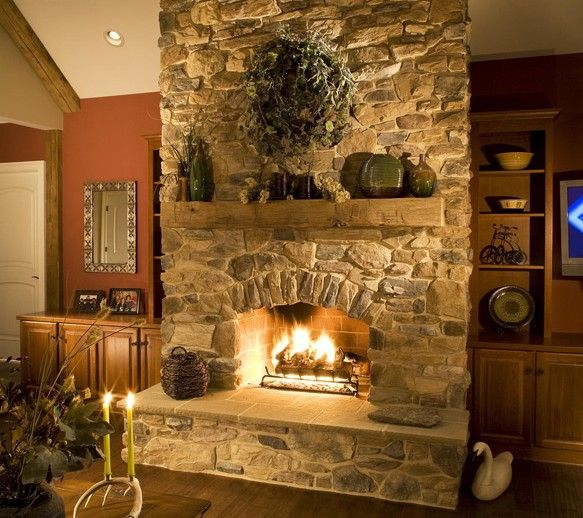 Stone Fireplaces Ideas: 206 Best Stairs, Fireplaces & Trim Images On Pinterest