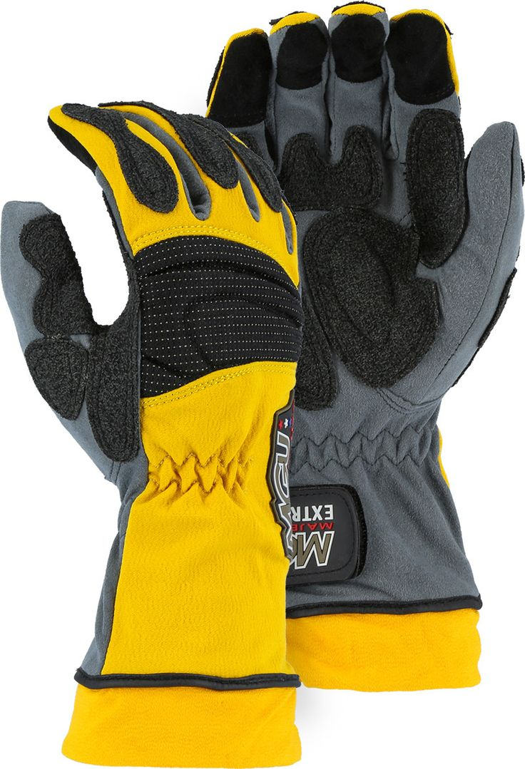 Motorcycle gloves to prevent numbness - Majestic 2164 Extrication Gloves Anti Vibration Reinforced Patches Long Version Pair