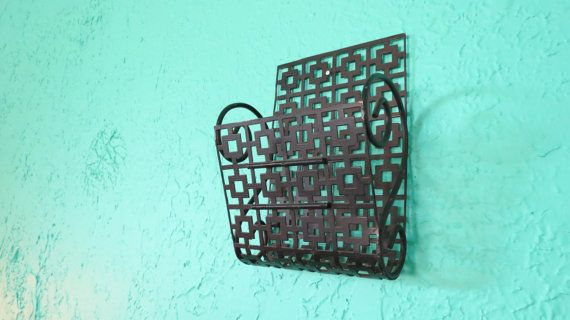 Black Pierced Metal MidCentury Modern Wall Mounting by AdoredAnew, $18.00