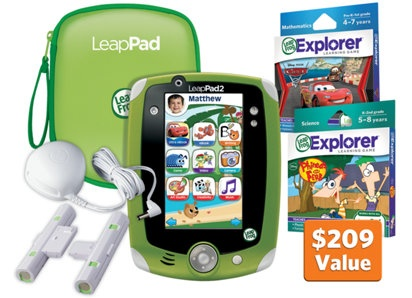 LeapPad2™ Disney Ultimate Bundle, green (2 of them since I have twin boys)