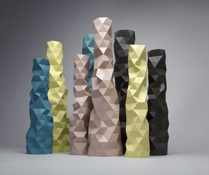 Faceture vases. Design: Phil Cuttance, 2012